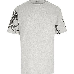 Only & Sons - Grijs T-shirt met print op de mouwen