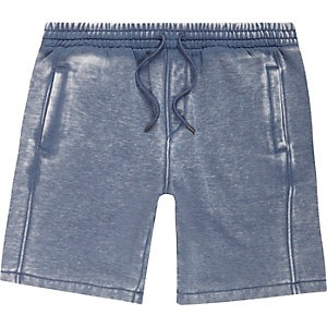 Navy blue burnout shorts