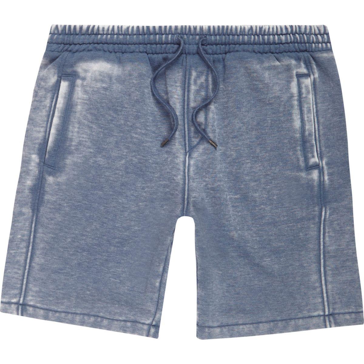 Navy blue burnout shorts