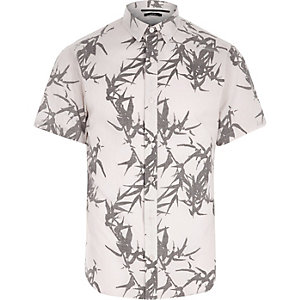 Cream Only & Sons leaf short sleeve shirt