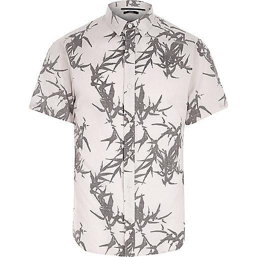 Cream Only & Sons leaf short sleeve shirt