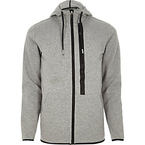 Grey Only & Sons zip detail hoodie