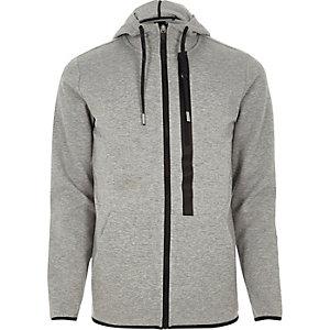 Only & Sons – Sweat à capuche gris à détail zippé