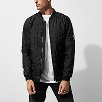 Black Only & Sons quilted bomber jacket
