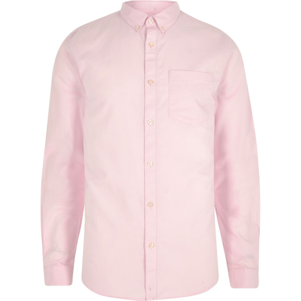 Pink long sleeve Oxford shirt