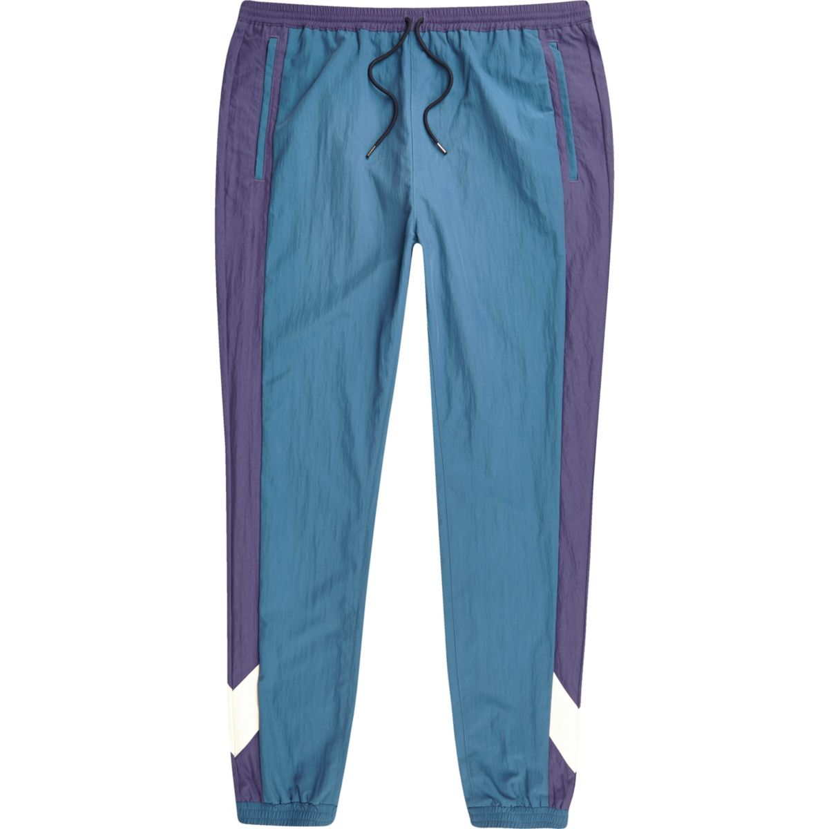Pantalon de jogging colour block bleu