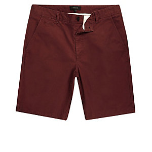 Dark red chino shorts