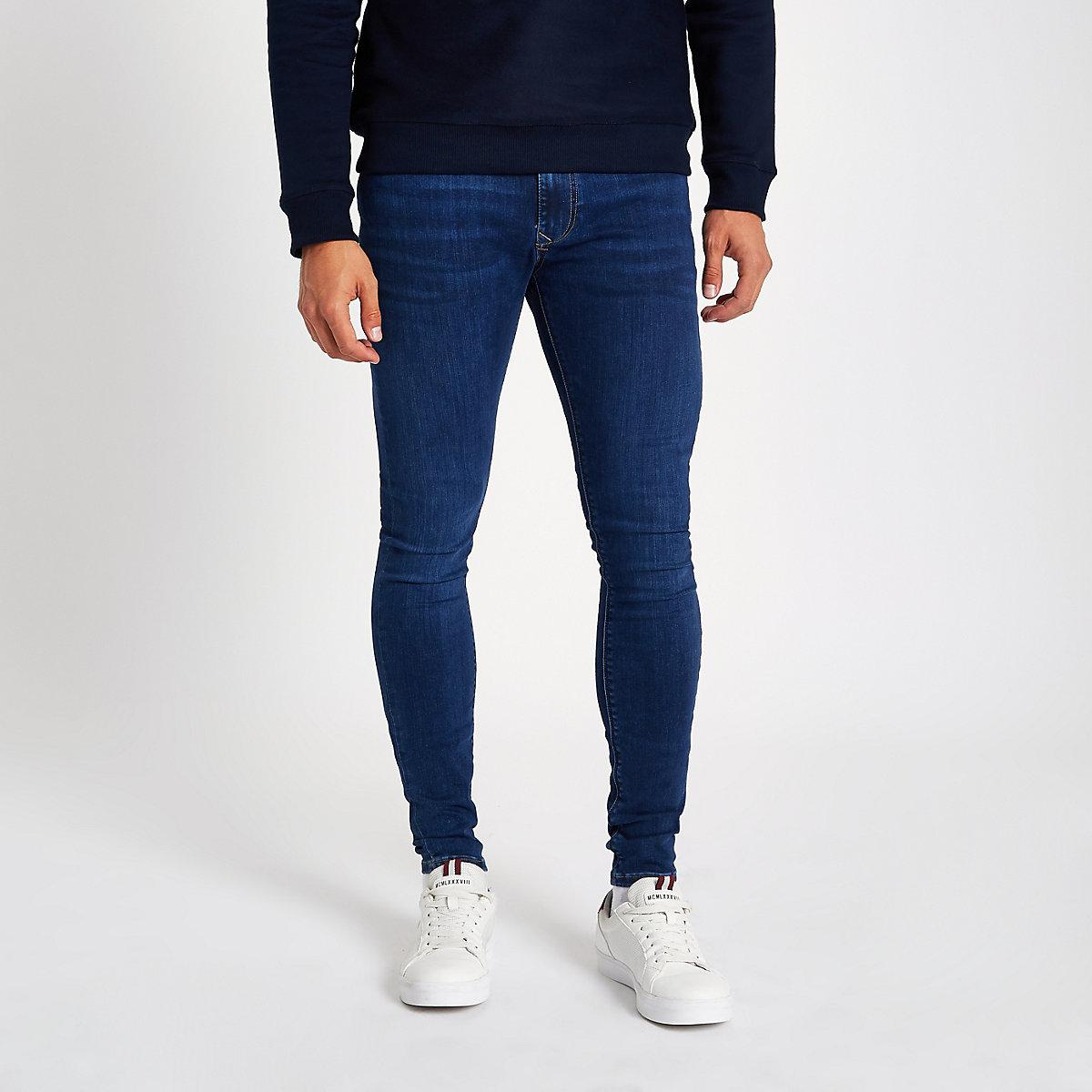 Dark blue wash Ollie skinny spray on jeans