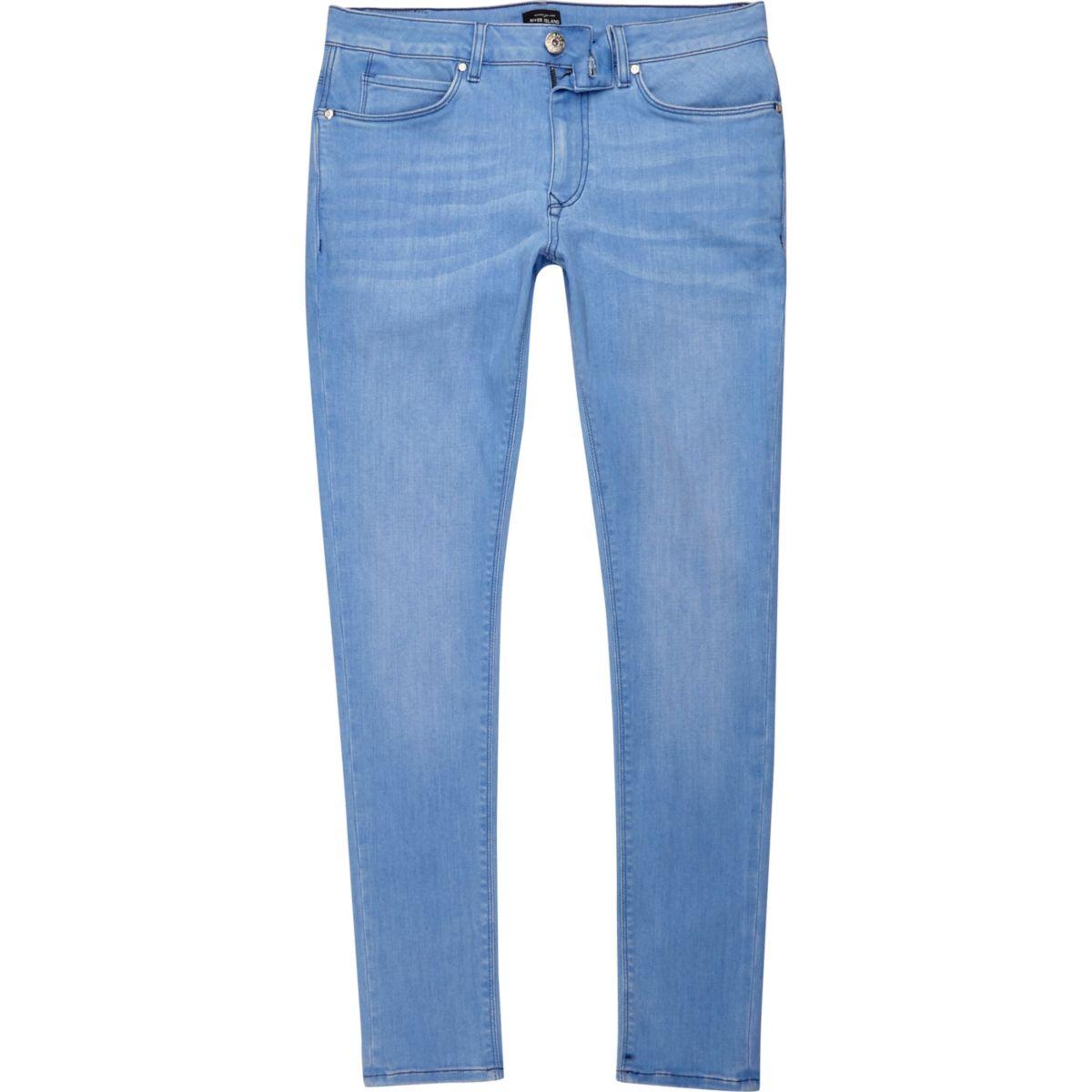 Ollie – Blaue Superskinny Spray On Jeans