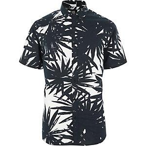 Only & Sons – Weißes, kurzärmliges Hawaii-Hemd
