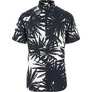 Only & Sons - Wit Hawaii overhemd met korte mouwen