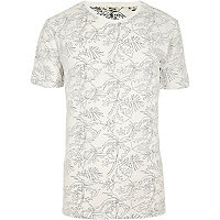 White Only & Sons palm print T-shirt