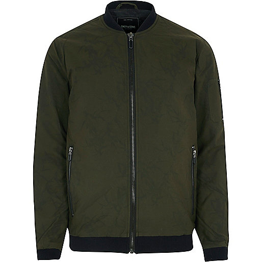 Green Only & Sons bomber jacket