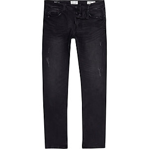 Only & Sons - Donkergrijze distressed jeans