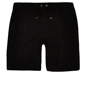 Big and Tall - Zwarte jersey short