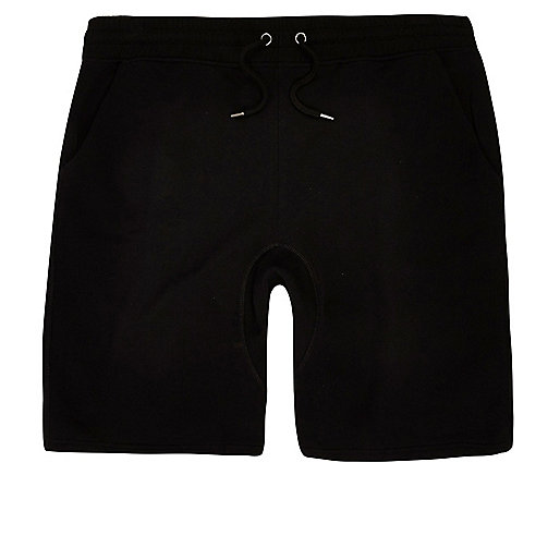 Big and Tall black jersey shorts