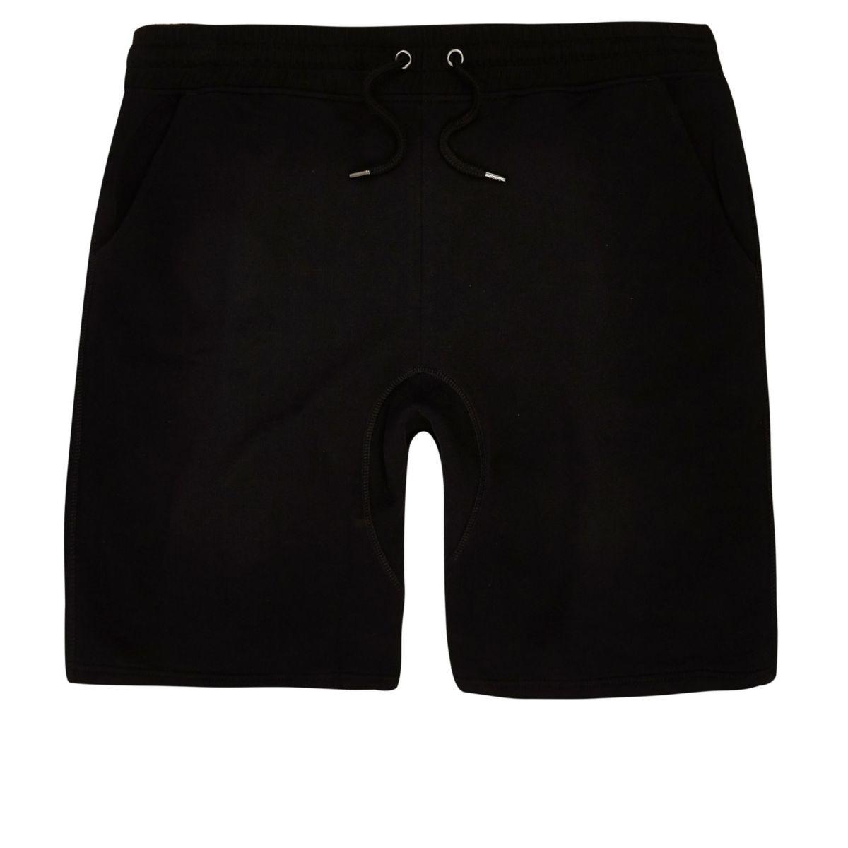 Big and Tall black jersey shorts