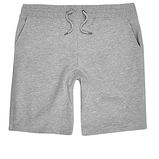 Big and Tall grey jersey shorts