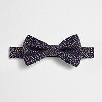 Navy geo print bow tie