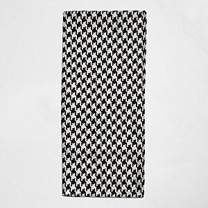Écharpe à imprimé contrastant grège