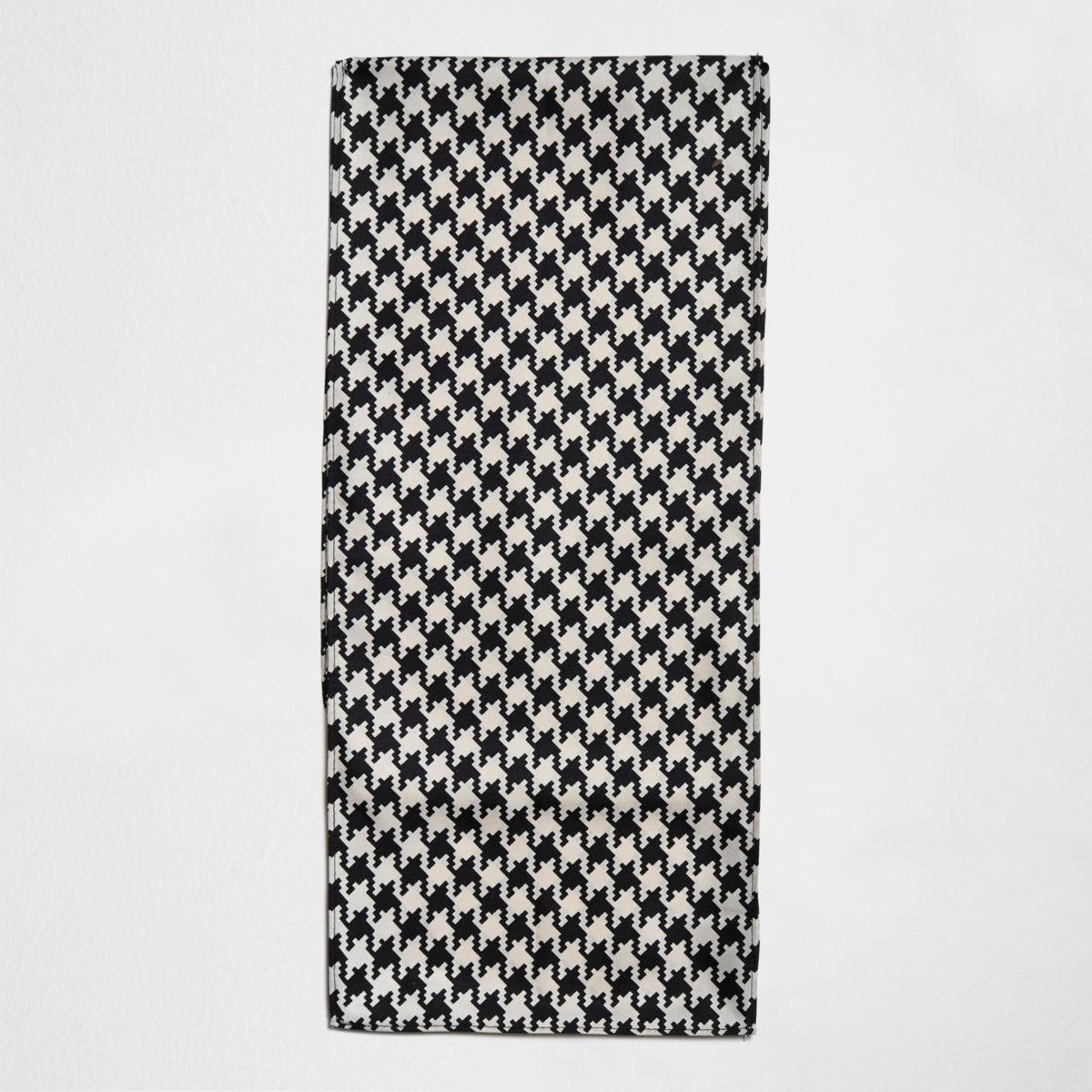 Stone contrast print scarf