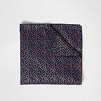Navy geo print pocket square