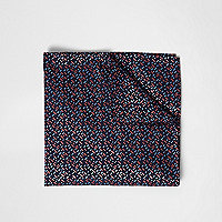 Navy geo print pocket square