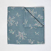 Mouchoir de poche imprimé sauge vert