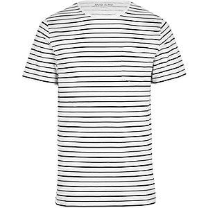 Slim Fit T-Shirt mit Streifen