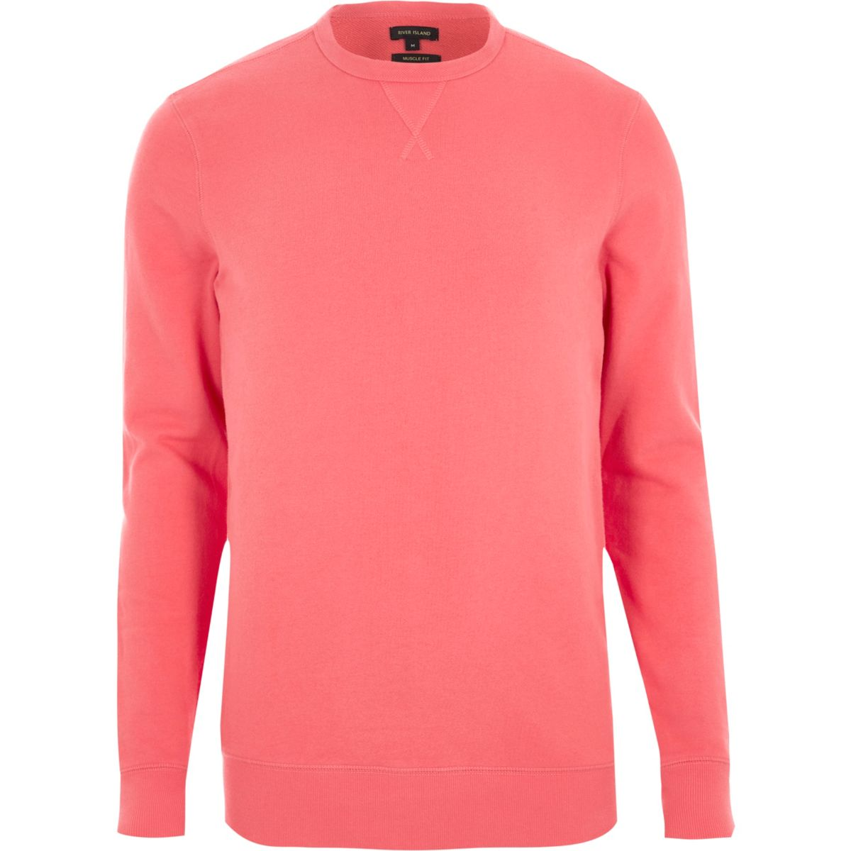 Coral muscle fit long sleeve sweatshirt