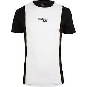 T-shirt ajusté à imprimé « Auto 75 » blanc