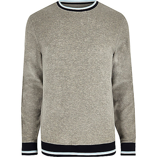 Grey tipped towel sweatshirt