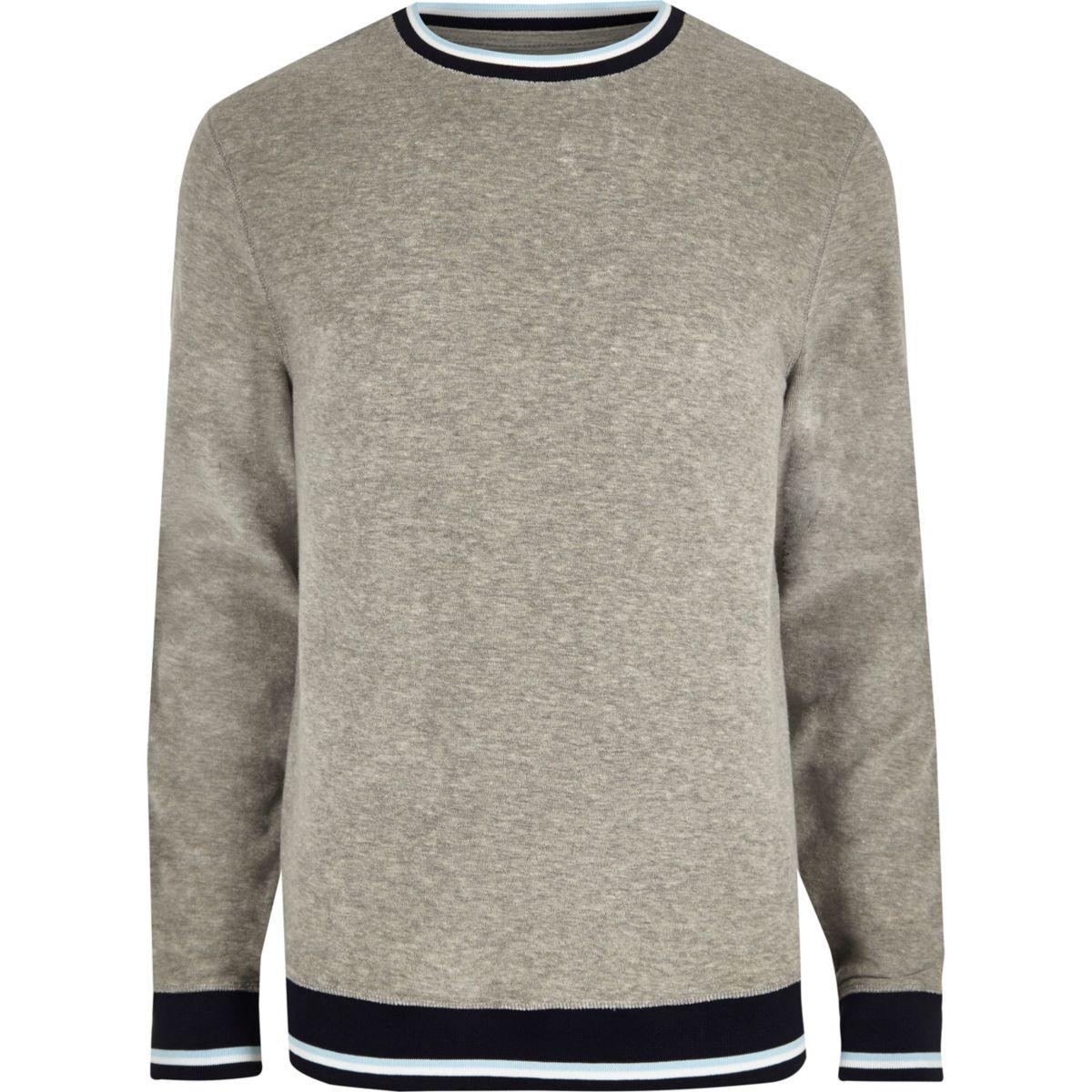 Grey tipped towel sweatshirt