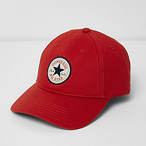 Converse – Rote Baseball-Kappe aus Jersey