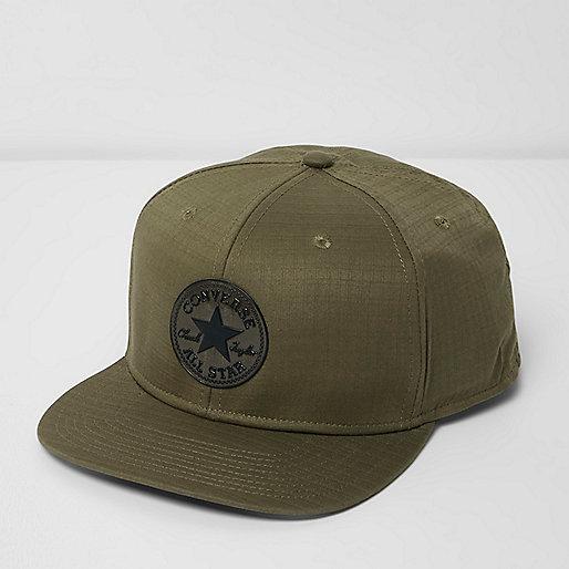 Green Converse flat peak cap
