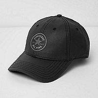 Converse – Casquette de baseball enduite noire