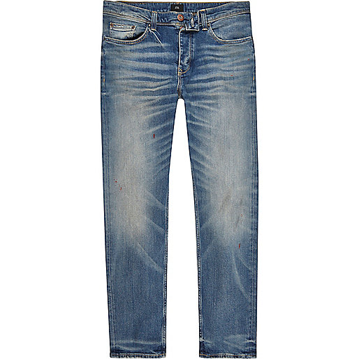 Mid blue wash faded Dylan slim fit jeans