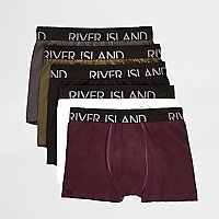 Red branded trunks multipack