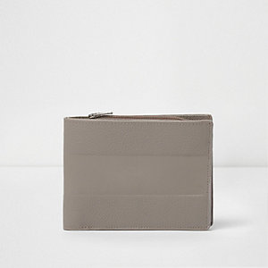 Grey embossed wallet