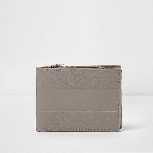 Grey embossed wallet