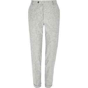 Pantalon skinny gris hachuré