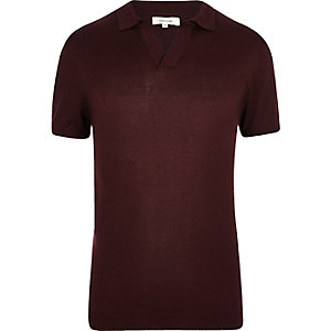 Weinrotes Slim Fit Polohemd