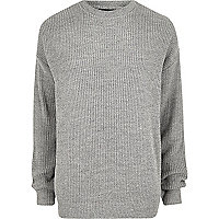 Pull pêcheur oversize gris