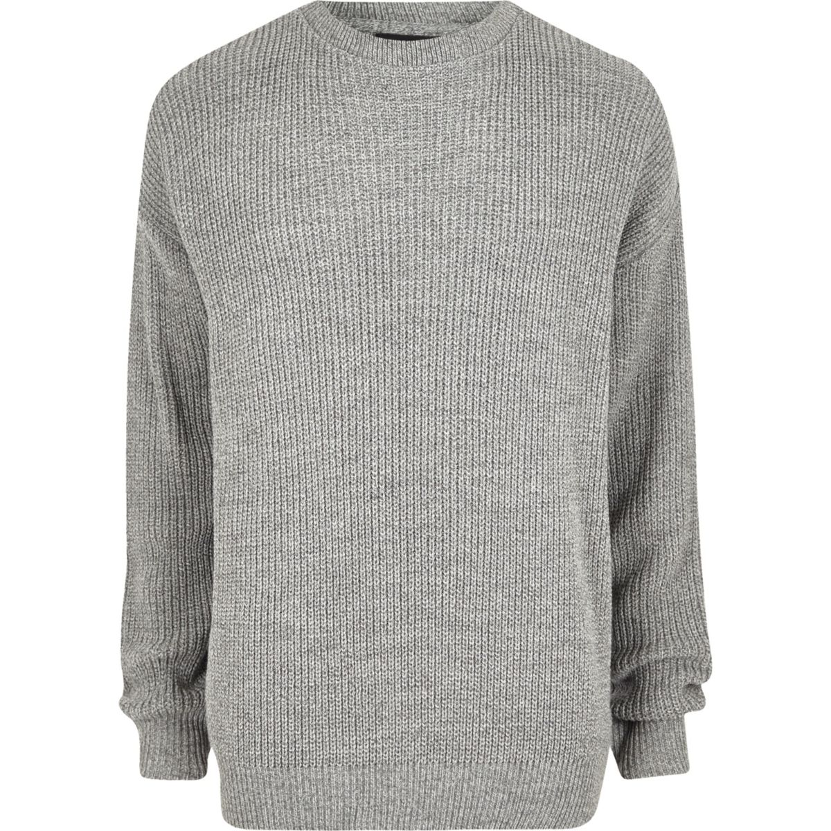 Grey oversized fisherman sweater