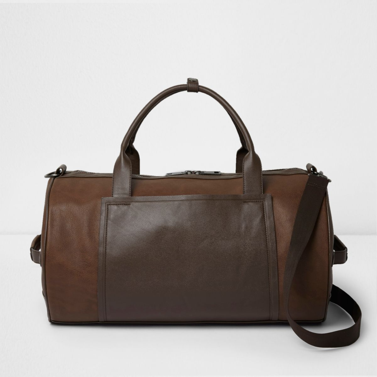 Tan brown panel holdall