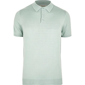 Polo coupe slim vert menthe