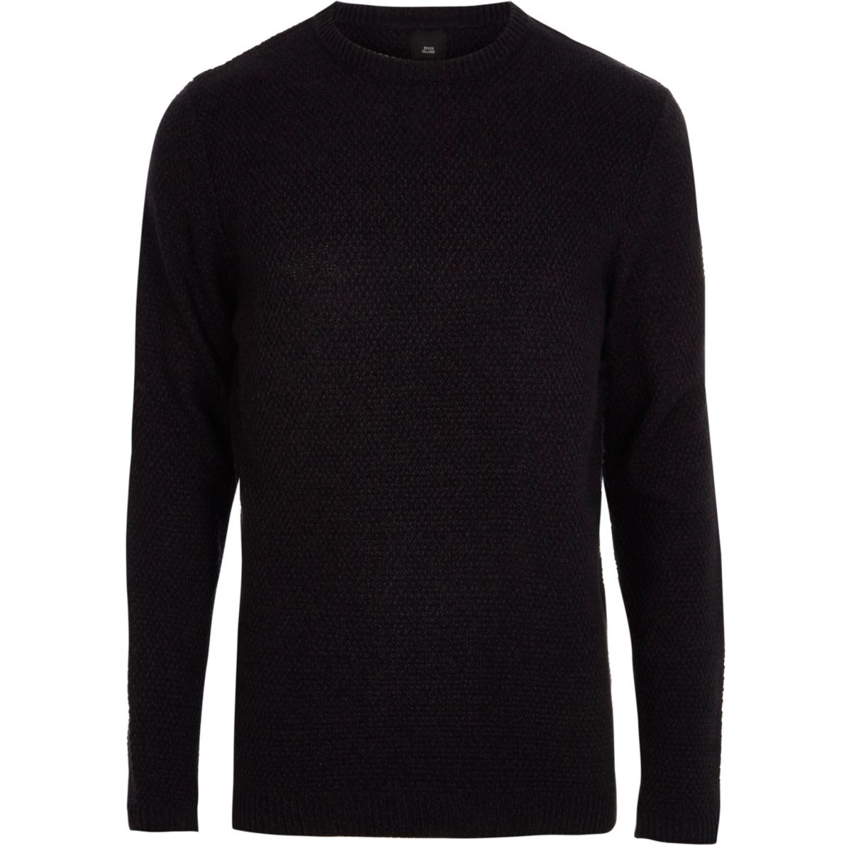 Navy slim fit crew neck sweater