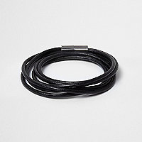 Black wrap around magnetic bracelet