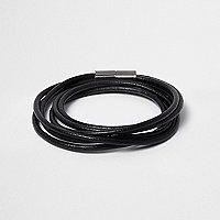 Black wrap around magnetic bracelet