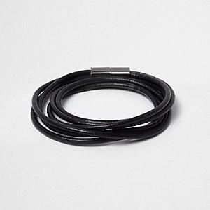 Bracelet noir magnétique à enrouler